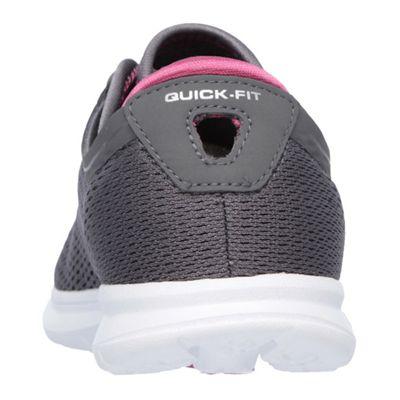Skechers Go Step Sport Ladies Athletic Shoes - Grey/Pink - Back