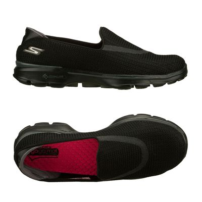 Skechers Go Walk 3 Ladies Walking Shoes-Black-Alternative View