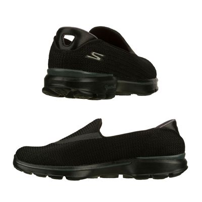Skechers Go Walk 3 Ladies Walking Shoes-Black-Images