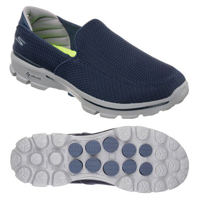 Skechers Go Walk 3 Mens Running Shoes-Navy and Grey-Main Image