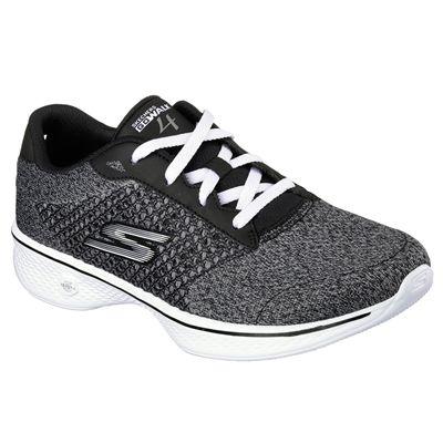 Skechers Go Walk 4 Exceed Ladies Walking Shoes-bkw-angle