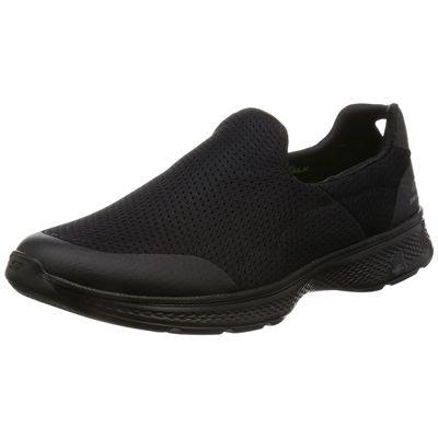 Skechers Go Walk 4 Incredible Mens Walking Shoes - Black/Amazon