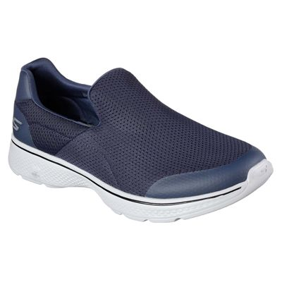 Skechers Go Walk 4 Incredible Mens Walking Shoes - Navy/Side