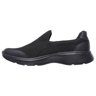 Skechers Go Walk 4 Incredible Mens Walking Shoes - Black/Left Side