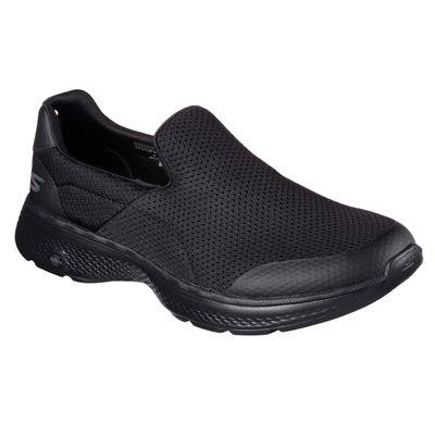 Skechers Go Walk 4 Incredible Mens Walking Shoes - Black/Side