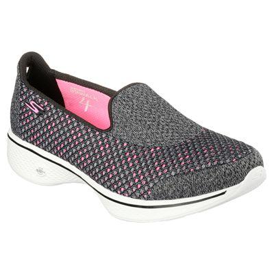 Skechers Go Walk 4 Kindle Ladies Walking Shoes-BKHP-angle