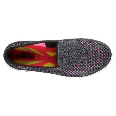 Skechers Go Walk 4 Kindle Ladies Walking Shoes-BKHP-top