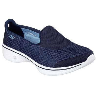 Skechers Go Walk 4 Kindle Ladies Walking Shoes-NVW-angle