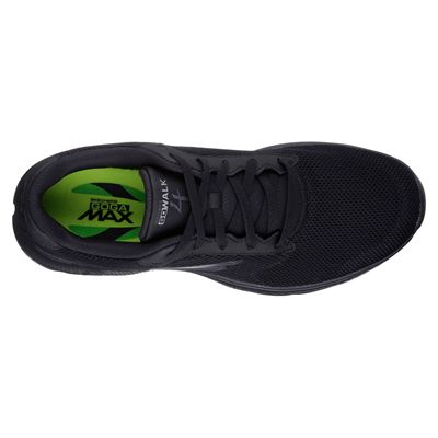 Skechers Go Walk 4 Lace Up Mens Walking Shoes - Black/Above