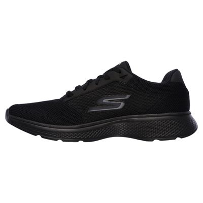 Skechers Go Walk 4 Lace Up Mens Walking Shoes - Black/Left