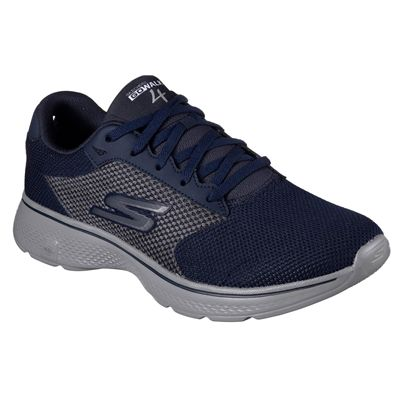Skechers Go Walk 4 Lace Up Mens Walking Shoes - Navy/Angle