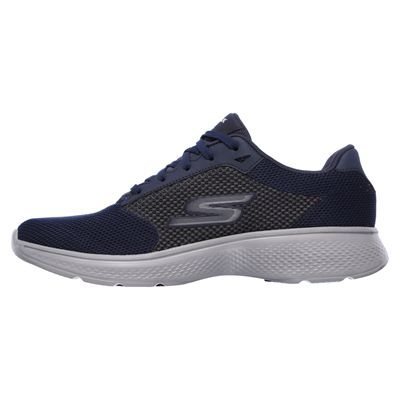 Skechers Go Walk 4 Lace Up Mens Walking Shoes - Navy/Side