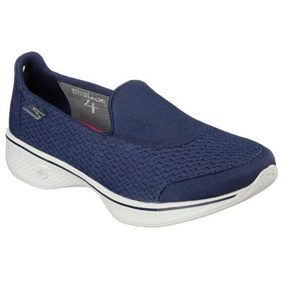Skechers Go Walk 4 Pursuit Ladies Walking Shoes - Navy - Angled