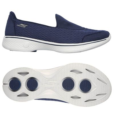 Skechers Go Walk 4 Pursuit Ladies Walking Shoes - Navy