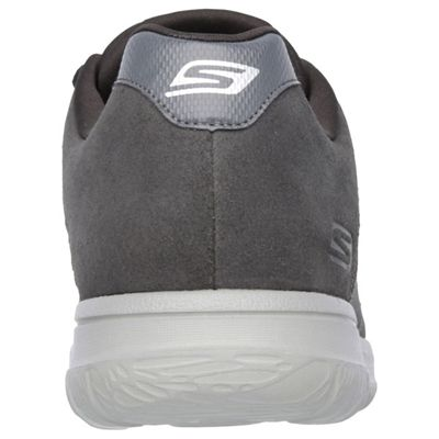 Skechers GoWalk City Retain Mens Walking Shoes-Charcoal-Back