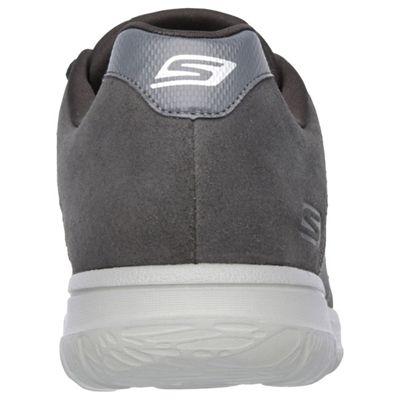 Skechers GoWalk City Retain Mens Walking Shoes-Charcoal-Back