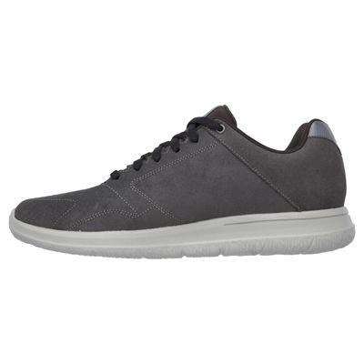Skechers GoWalk City Retain Mens Walking Shoes-Charcoal-Medial