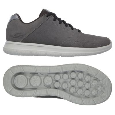 Skechers GoWalk City Retain Mens Walking Shoes-Charcoal