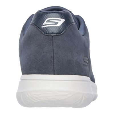 Skechers GoWalk City Retain Mens Walking Shoes-Navy/Grey-Back