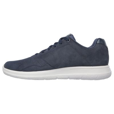 Skechers GoWalk City Retain Mens Walking Shoes-Navy/Grey-Medial