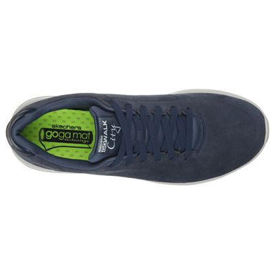 Skechers GoWalk City Retain Mens Walking Shoes-Navy/Grey-Top