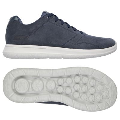 Skechers GoWalk City Retain Mens Walking Shoes-Navy/Grey