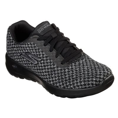 Skechers Go Walk Joy Pivotal Ladies Walking Shoes - Black - Angled
