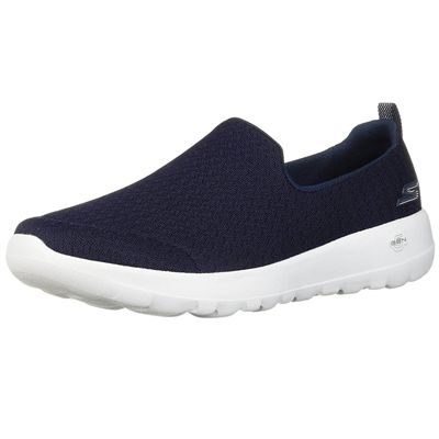 Skechers Go Walk Joy Rejoice Ladies Walking Shoes - Navy - Angled