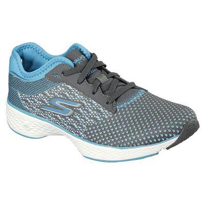 Skechers Go Walk Sport Lace up Ladies Walking Shoes - Blue