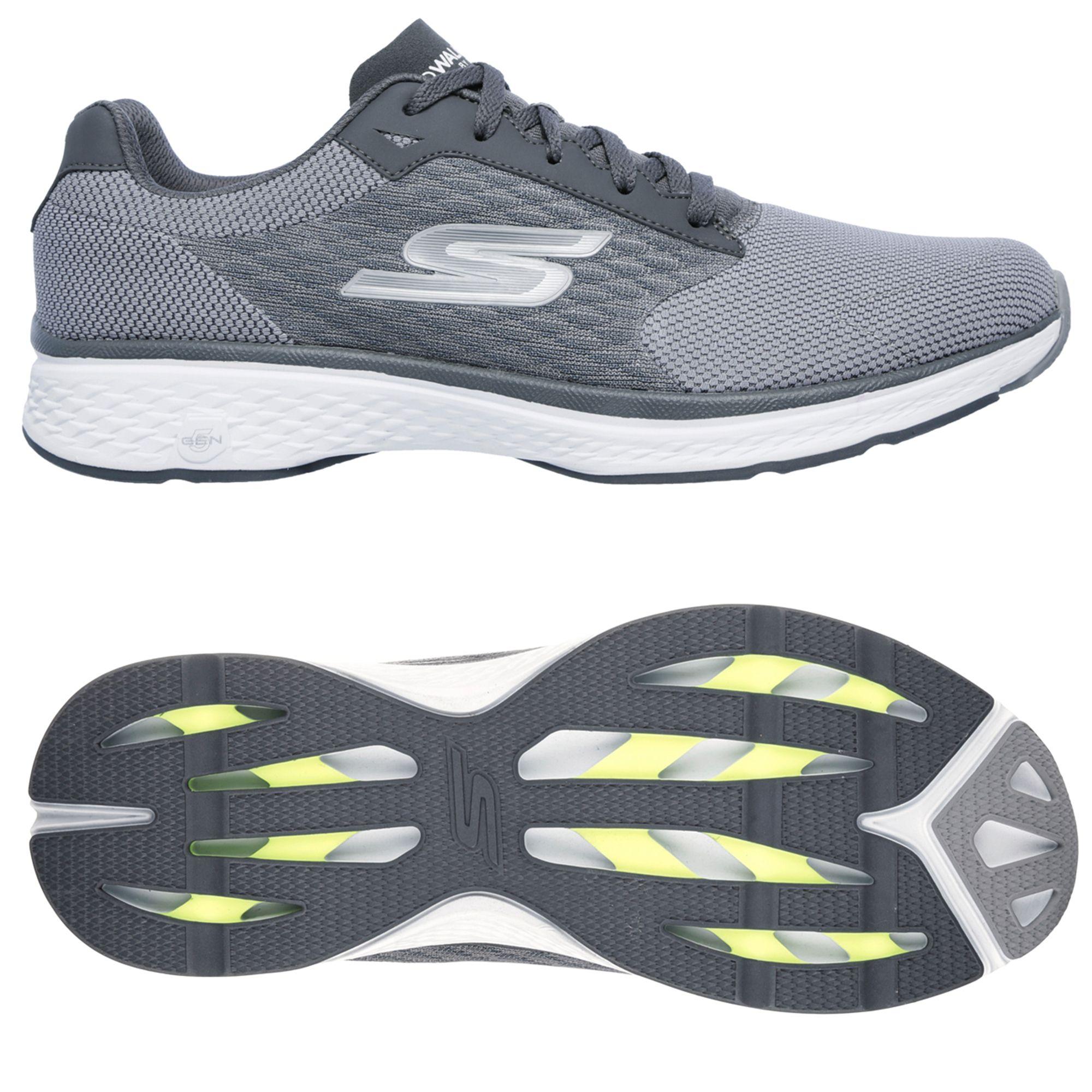 skechers go walk sport lace up mens walking shoes