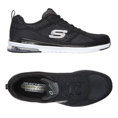 Skechers Sketch Air Infinity Mens Running Shoes-Black and White-Alternative View