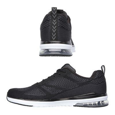 Skechers Sketch Air Infinity Mens Running Shoes-Black and White-Images