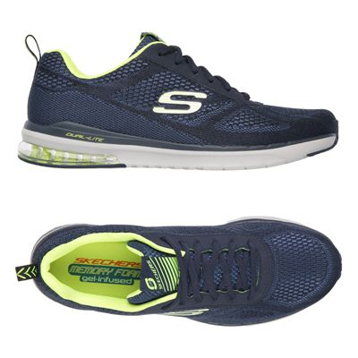 Skechers Sketch Air Infinity Mens Running Shoes-Navy and Yellow-Alternative View