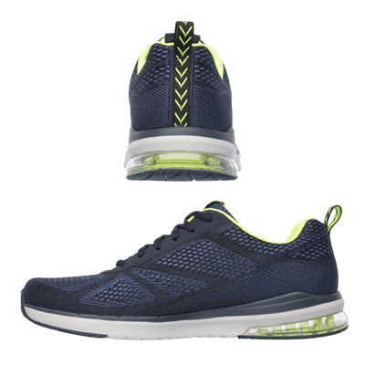 Skechers Sketch Air Infinity Mens Running Shoes-Navy and Yellow-Images