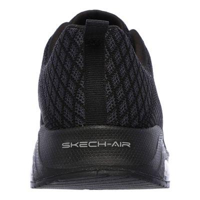 Skechers Sketch Air Extreme Awaken Ladies Walking Shoes-Black-Back