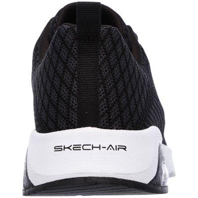Skechers Sketch Air Extreme Awaken Ladies Walking Shoes-Black/White-Back
