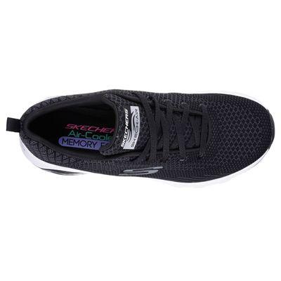 Skechers Sketch Air Extreme Awaken Ladies Walking Shoes-Black/White-Top