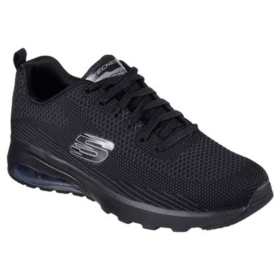 Skechers Sketch Air Extreme Mens Walking Shoes-Black-Angled