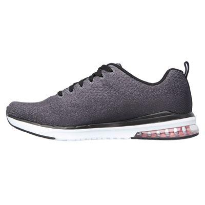 Skechers Sketch-Air Infinity Modern Chick Ladies Walking Shoes-Black/White-Medial