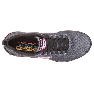 Skechers Sketch-Air Infinity Modern Chick Ladies Walking Shoes-Black/White-Top