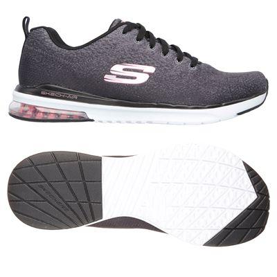 Skechers Sketch-Air Infinity Modern Chick Ladies Walking Shoes-Black/White