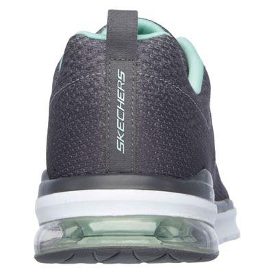 Skechers Sketch-Air Infinity Modern Chick Ladies Walking Shoes-Charcoal-Back