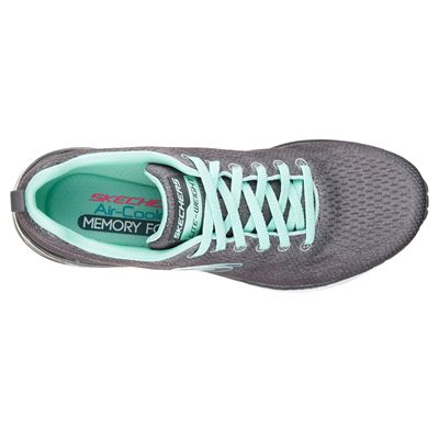 Skechers Sketch-Air Infinity Modern Chick Ladies Walking Shoes-Charcoal-Top