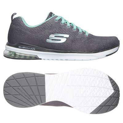 Skechers Sketch-Air Infinity Modern Chick Ladies Walking Shoes-Charcoal