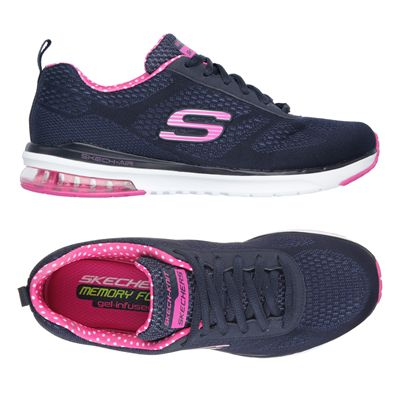 Skechers Sketch Air Infinity Ladies Running Shoes-Navy and Pink-Alternative View