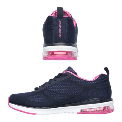Skechers Sketch Air Infinity Ladies Running Shoes-Navy and Pink-Images