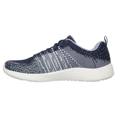 Skechers Sport Burst Ellipse Ladies Running Shoes-Navy-Side