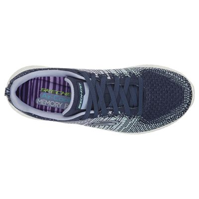 Skechers Sport Burst Ellipse Ladies Running Shoes-Navy-Top