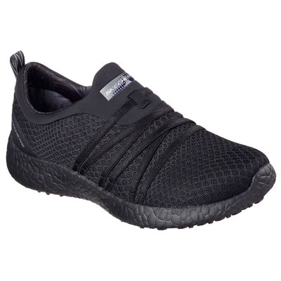 Skechers Sport Burst Very Daring Ladies Running Shoes-Black-Angled