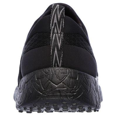 Skechers Sport Burst Very Daring Ladies Running Shoes-Black-Back